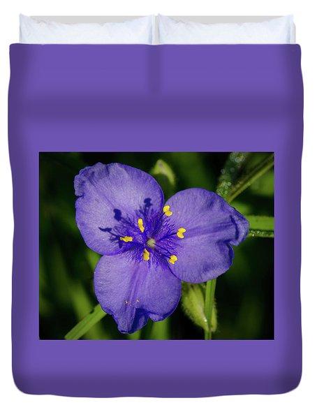 Spiderwort Flower Duvet Cover