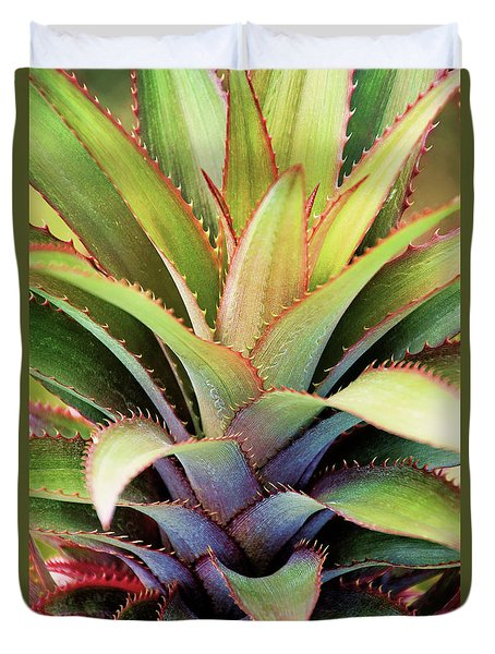 Duvet Cover featuring the photograph Spiny Succulent I by Leda Robertson