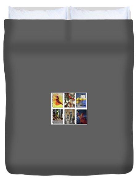 Spiral Notebooks Samples Duvet Cover