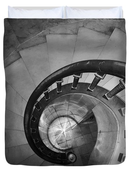 Spiral Staircase, Lakewood  Cemetary Chapel Duvet Cover