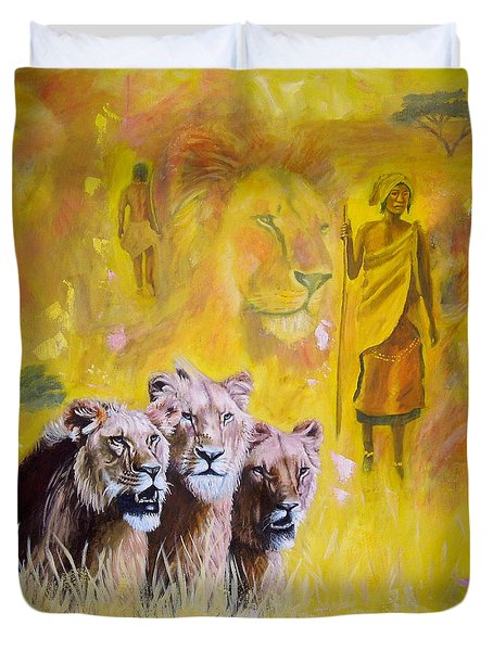 Spirit Of Africa Duvet Cover