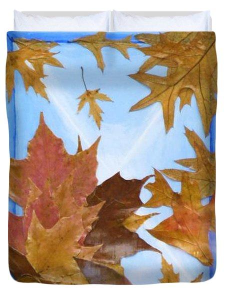 Splattered Leaves Duvet Cover