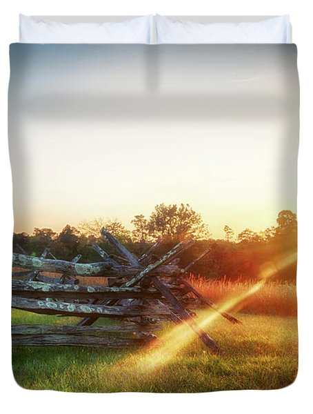 Split-rail Sunset Duvet Cover