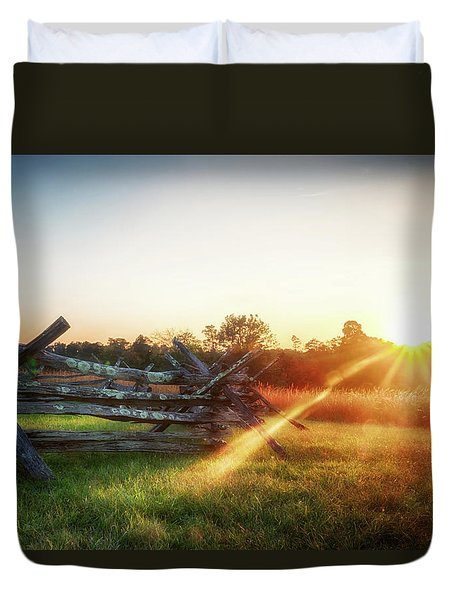 Split-rail Sunset Duvet Cover