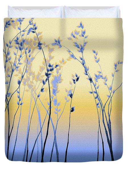 Duvet Cover featuring the digital art Spring Aspen by Susan Maxwell Schmidt