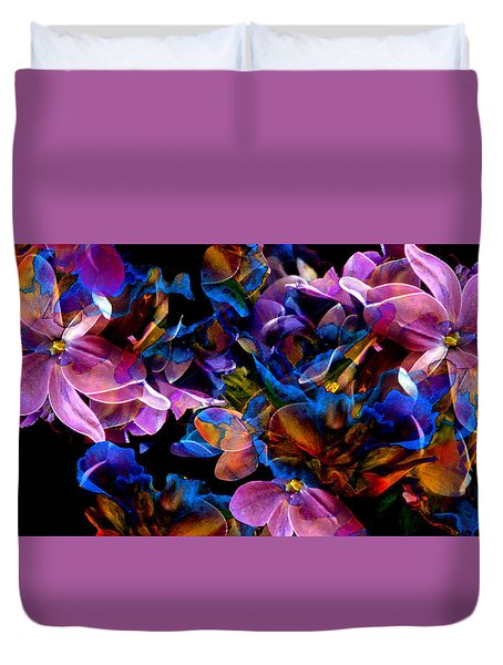 Duvet Cover featuring the painting Spring Fantasy by Hanne Lore Koehler
