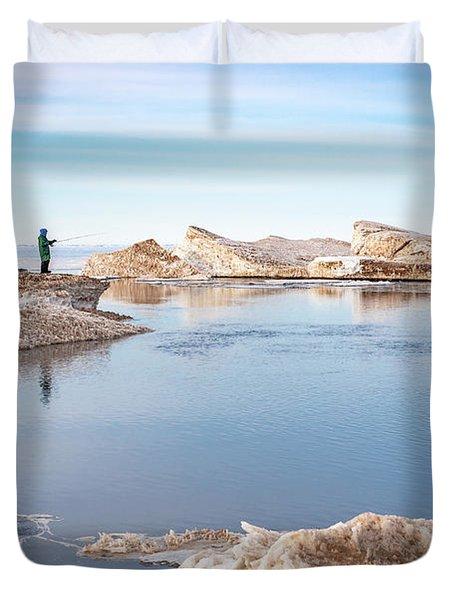 Spring Fishing Duvet Cover