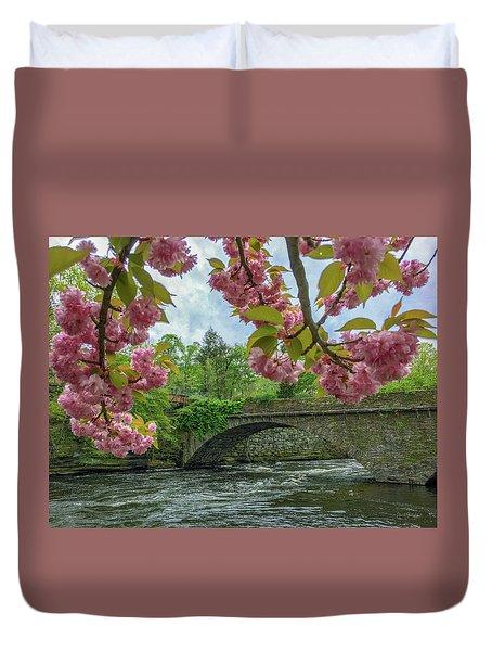 Spring Garden On The Bridge  Duvet Cover