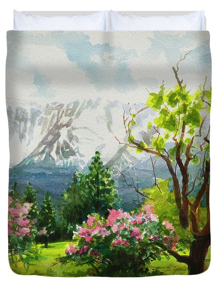 Spring In The Wallowas Duvet Cover