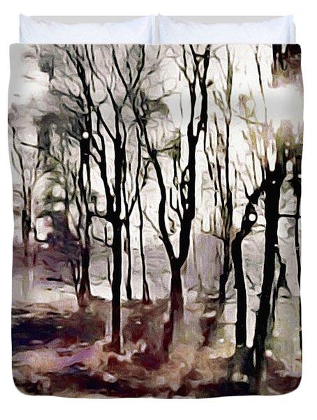 Spring Morning Mist Duvet Cover