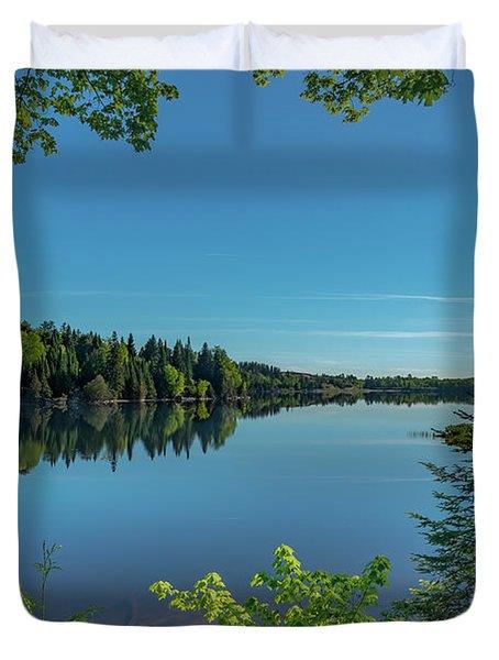 Spring Morning On Grand Sable Lake Duvet Cover