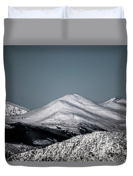 Spring Snow On The Mountains Duvet Cover