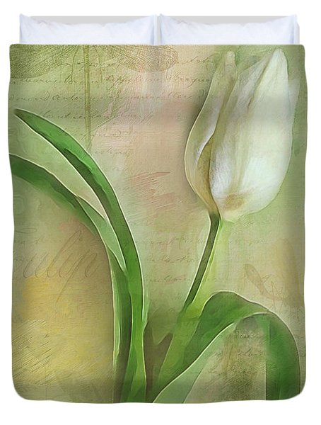 Spring Tulip Montage Duvet Cover