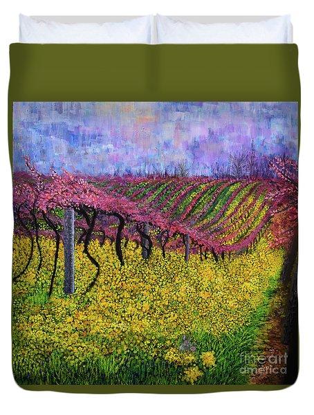 Spring Vineyard Duvet Cover