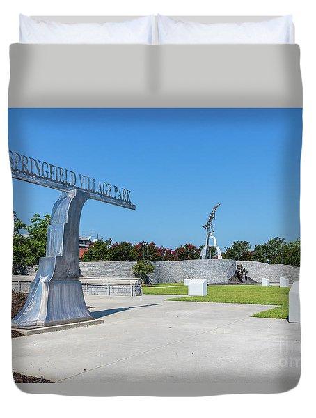 Springfield Village Park - Augusta Ga Duvet Cover