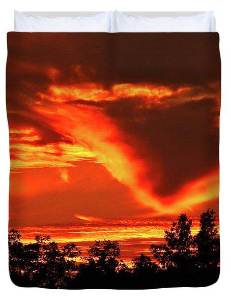 Springport, Michigan Sunset 4289 Duvet Cover