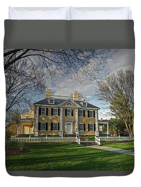Duvet Cover featuring the photograph Springtime At Longfellow House by Wayne Marshall Chase