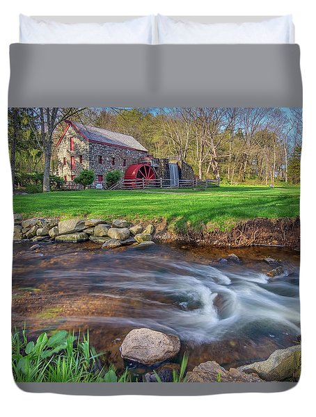 Springtime At The Grist Mill Duvet Cover