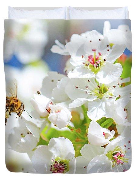 Springtime Buzz Duvet Cover