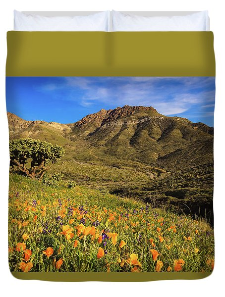 Springtime In The Desert Southwest Duvet Cover