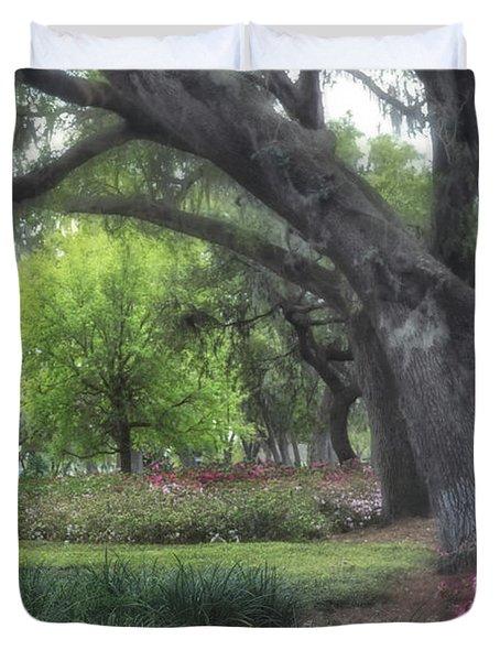 Springtime In The Park Duvet Cover
