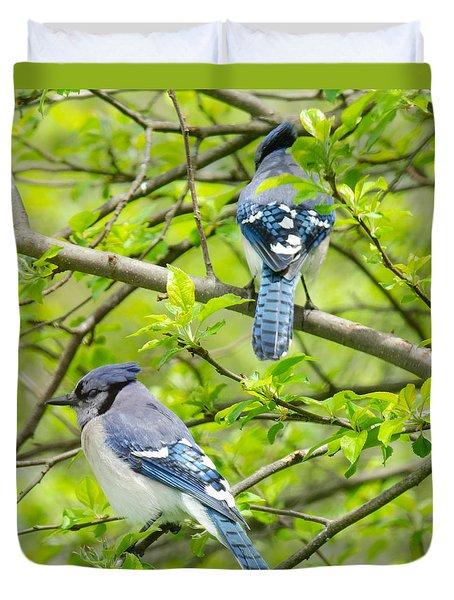 Springtime Pairs Duvet Cover