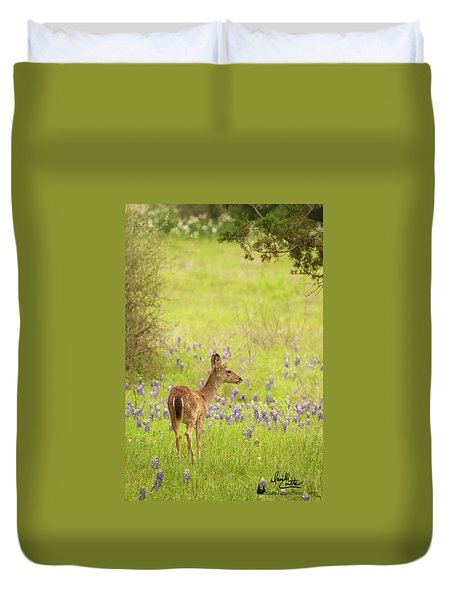 Springtime Whitetail Duvet Cover