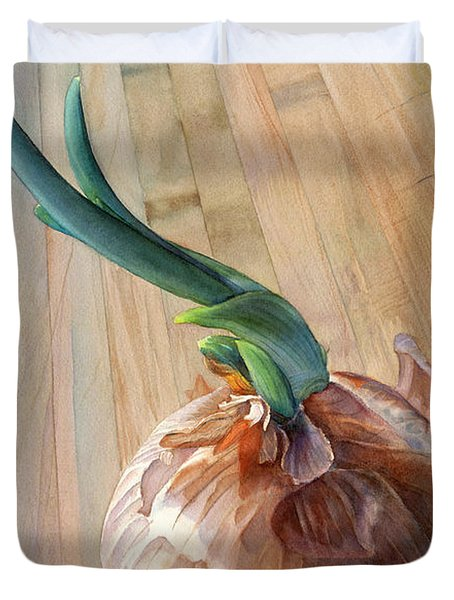 Sprouting Onion Duvet Cover