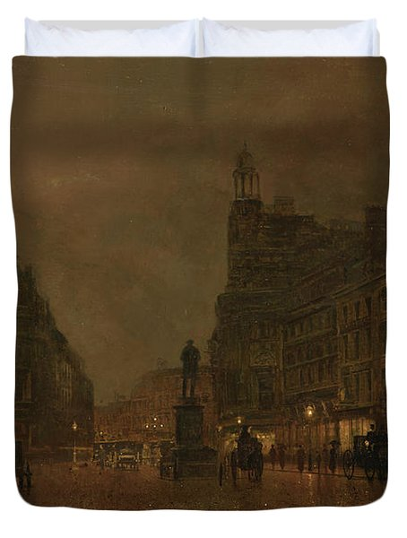 St Anne's Square And Exchange Manchester Duvet Cover