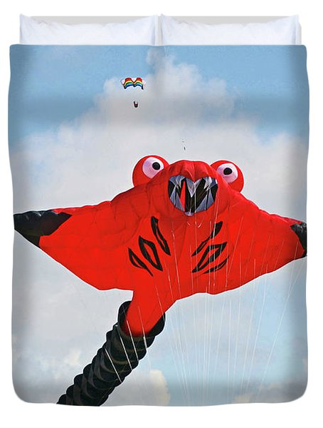 St. Annes. The Kite Festival Duvet Cover