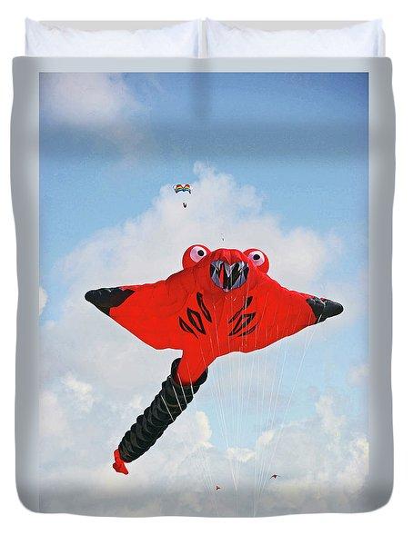 St. Annes. The Kite Festival Duvet Cover