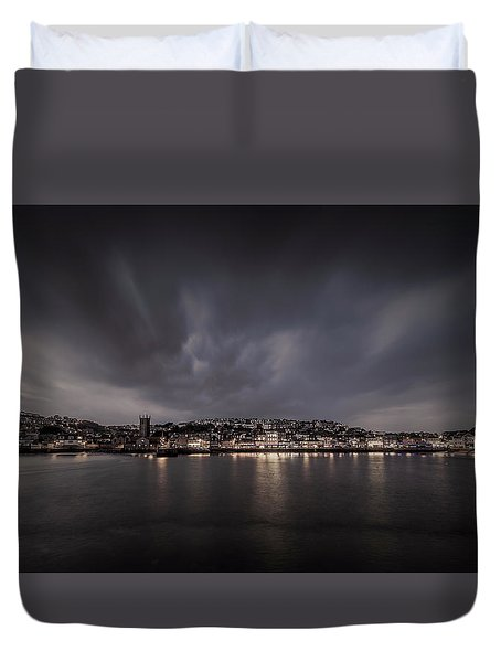 St Ives Cornwall - Dramatic Sky Duvet Cover