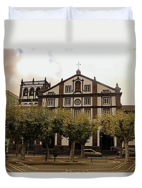 Duvet Cover featuring the photograph St Joseph by Tony Murtagh