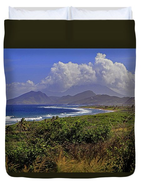 Duvet Cover featuring the photograph St Kitts  by Tony Murtagh