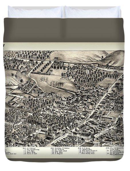 St. Louis Missouri Map 1875 Duvet Cover