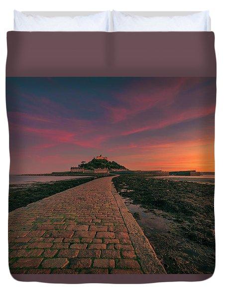 St Michael's Mount Sunset Duvet Cover