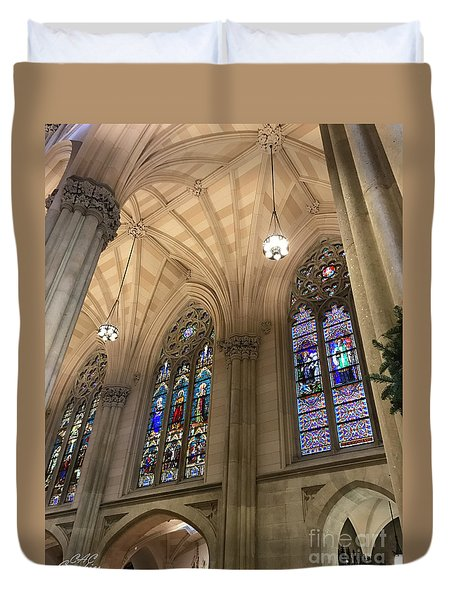 St Patricks Stained Glass Duvet Cover