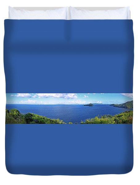 St. Thomas Northside Ocean View Duvet Cover