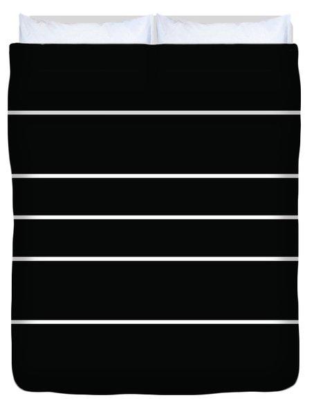 Stacked - Black And White Duvet Cover