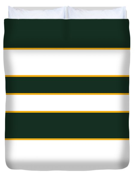Stacked - Green, White And Yellow Duvet Cover