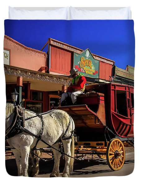 Stagecoach, Tombstone Duvet Cover