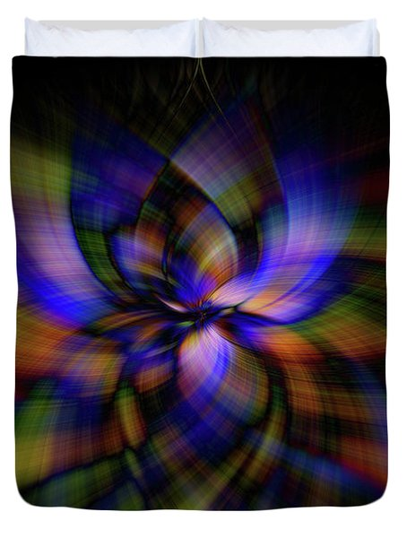 Stained Glass Petal Power Duvet Cover