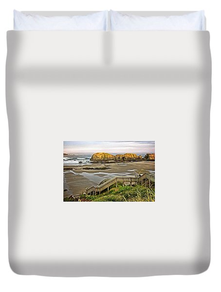 Stairs To The Beach Duvet Cover