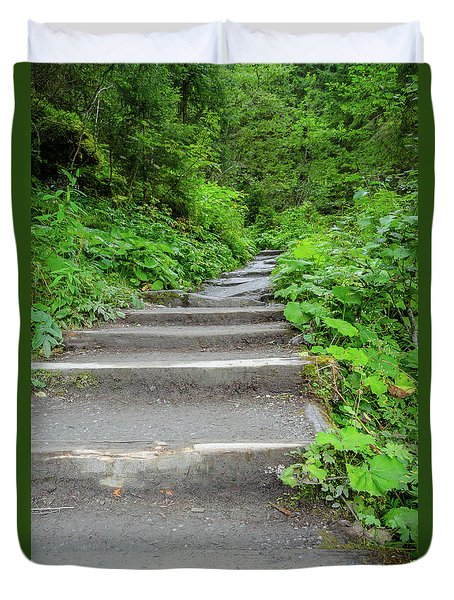 Stairs To The Woods Duvet Cover