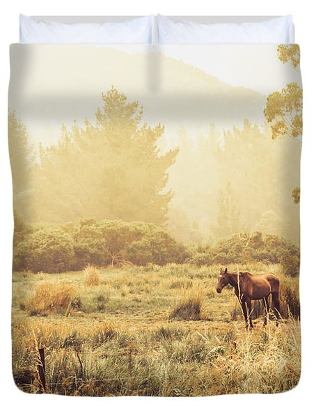 Stallion Homestead Duvet Cover