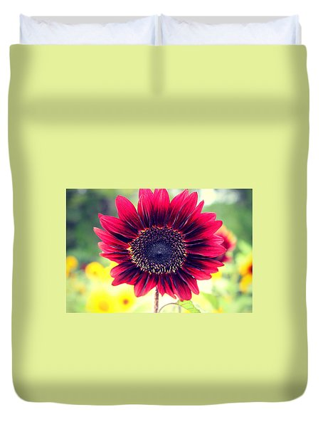 Duvet Cover featuring the photograph Stand Out by Candice Trimble