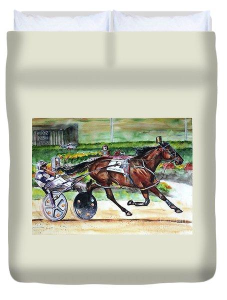 Standardbred Horse Duvet Cover
