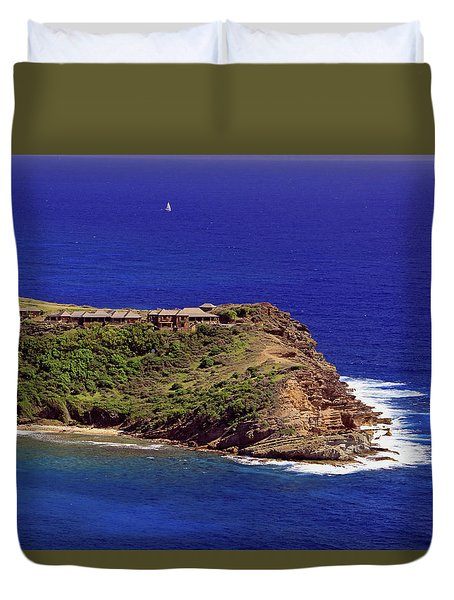 Duvet Cover featuring the photograph Standfast Point by Tony Murtagh