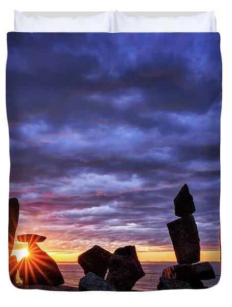 Standing Stone 1 Halibut Pt.  Duvet Cover