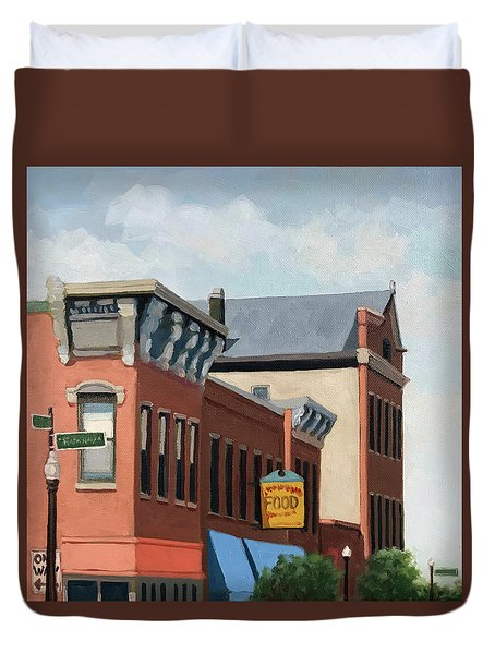 Standing Tall -local City Buildings Duvet Cover